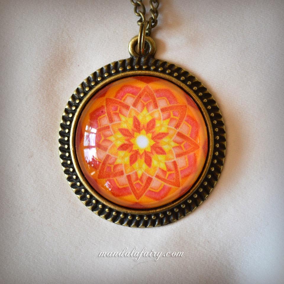 Abundance mandala necklace