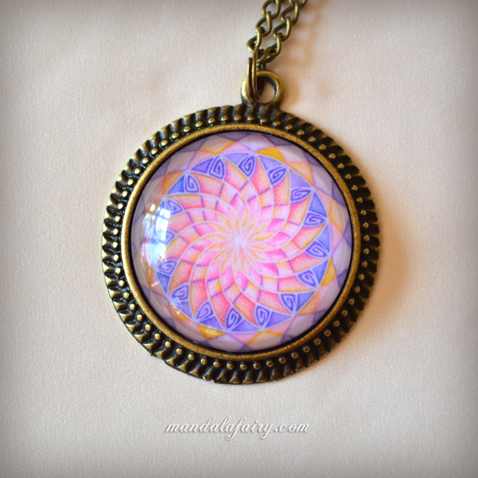 Sacred Beauty mandala necklace