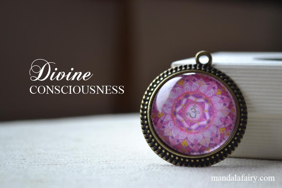 Crown chakra mandala necklace