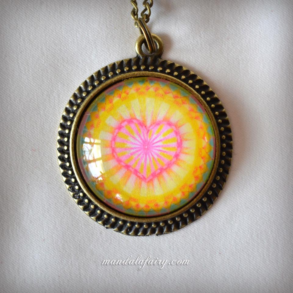 """Radiate love"" mandala necklace"