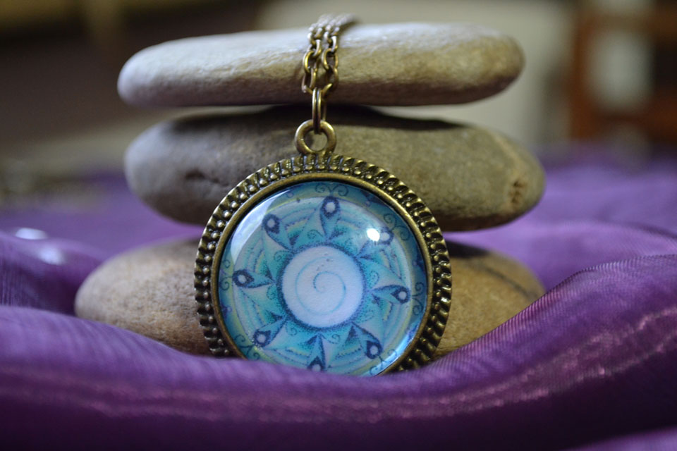 Water Spirit mandala necklace