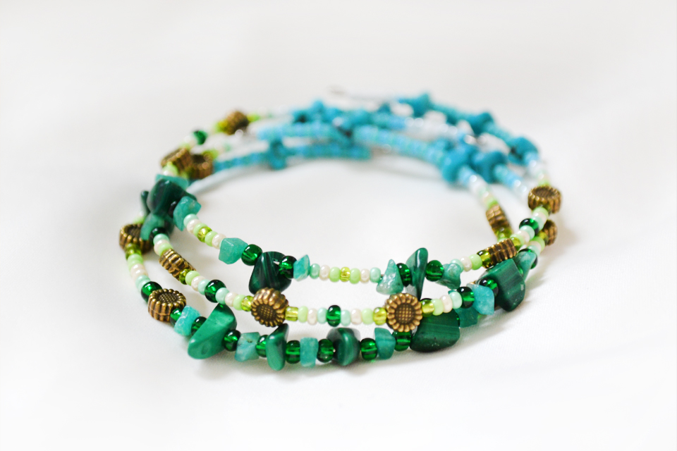 """Blue as grass"" fairy bracelet"