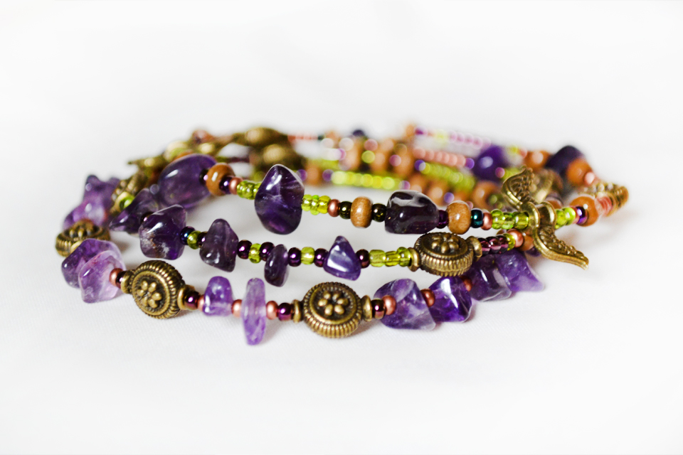 Amethyst showers fairy bracelet