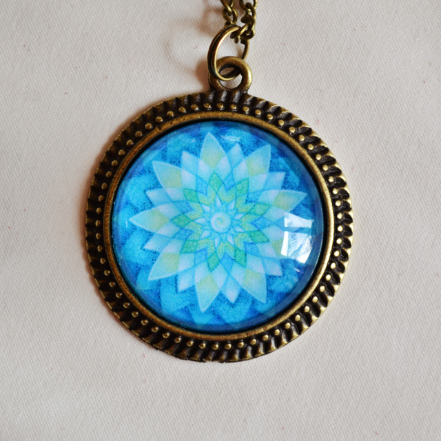 Eye Of Shiva mandala necklace