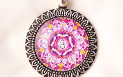 CROWN CHAKRA mandala necklace II