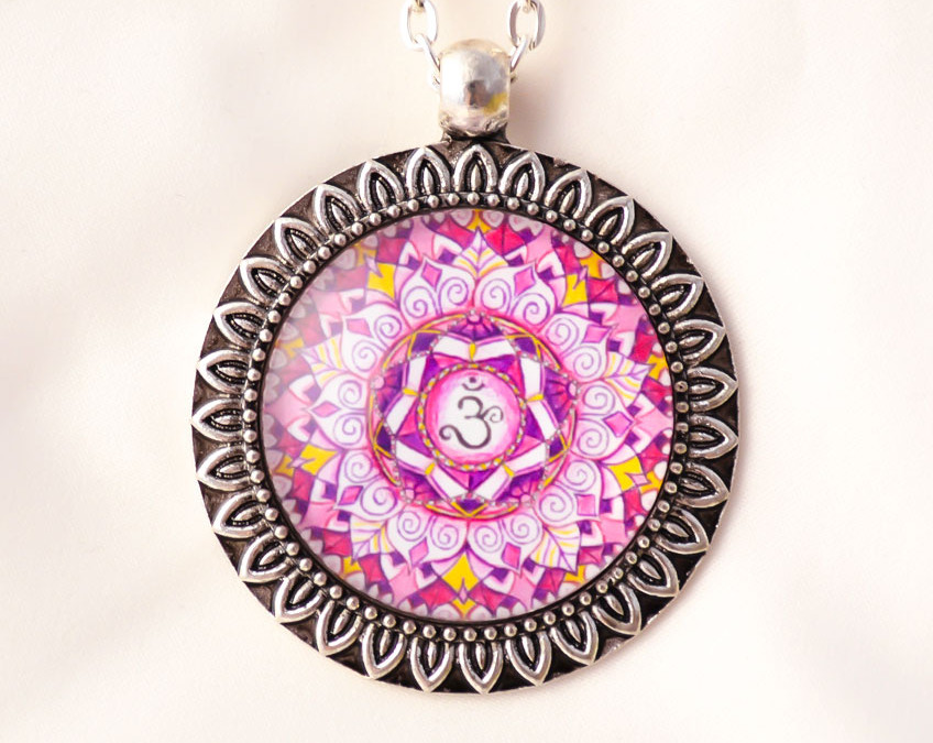 CROWN CHAKRA mandala necklace II
