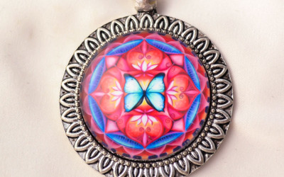 BUTTERFLY SPIRIT mandala necklace II
