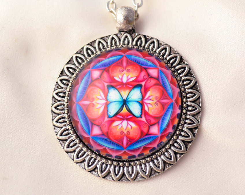 BUTTERFLY SPIRIT mandala necklace II