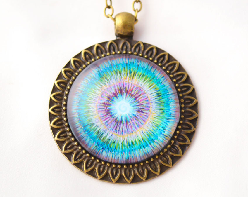 BE PRESENT mandala necklace II