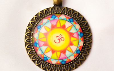 OM mandala necklace II