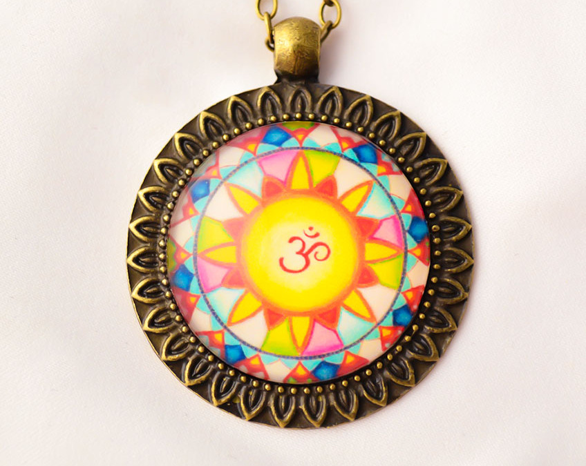 OM mandala necklace II