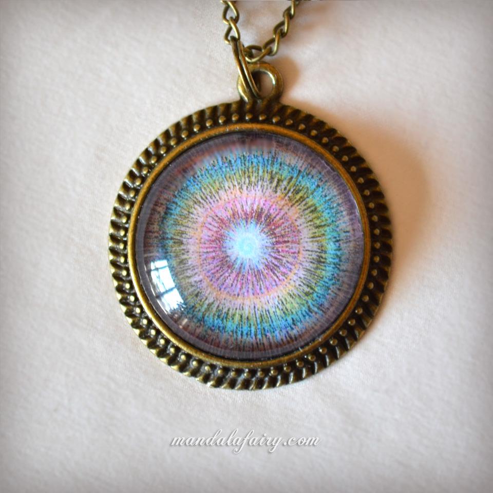 """Be present"" mandala necklace"