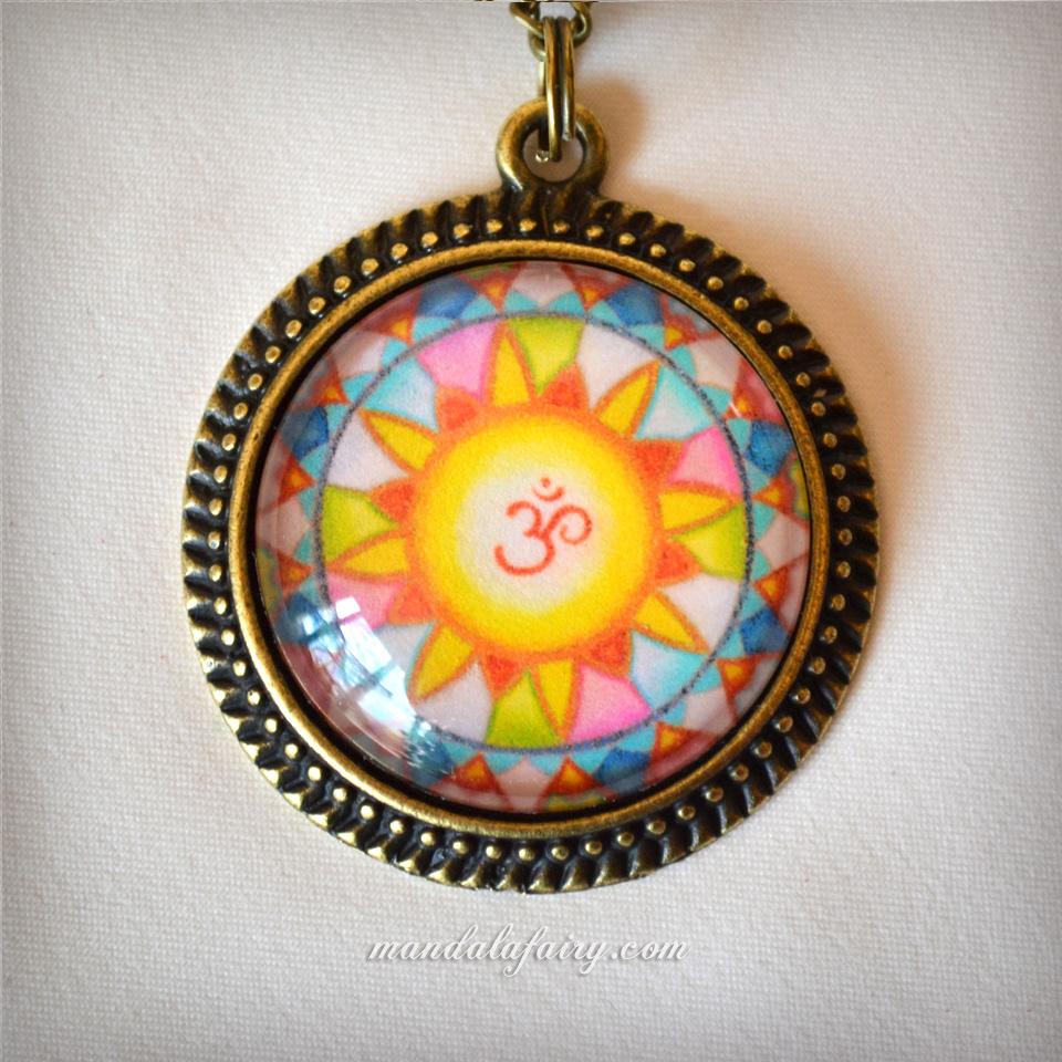 """""""Om"""" mandala necklace"""