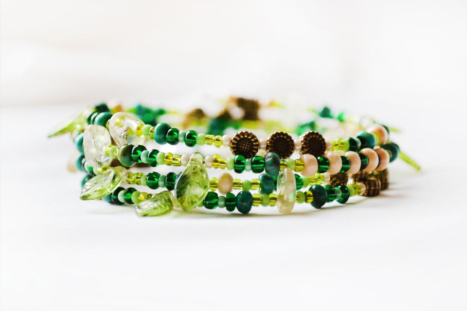 Evergreen fairy bracelet