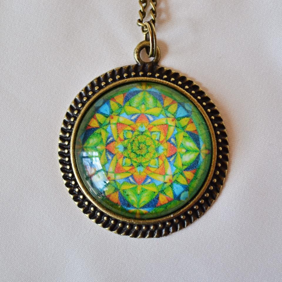 Circle Of Angels mandala necklace