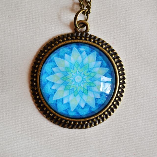 Eye Of Shiva mandala necklace