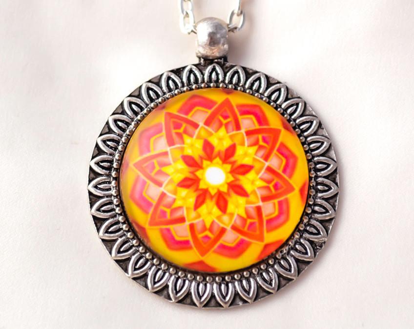 ABUNDANCE mandala necklace II
