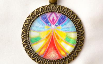 GUARDIAN ANGEL mandala necklace II